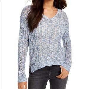 Freshman Junior's Pointelle V-Neck Sweater
